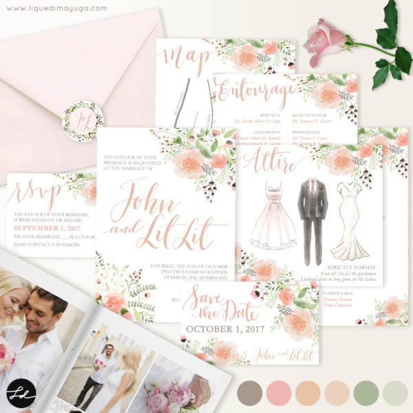 Invitation Suite + Calligraphy watercolor